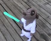 Luke Meerkat Skywalker, Handmade in UK, star wars, starwars, hero meercat, knitted meerkat, star wars meerkat