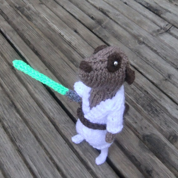 Luke Meerkat Skywalker, Handmade in UK, star wars, starwars, hero meercat, knitted meerkat, star wars meerkat