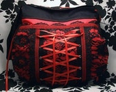 Custom Gothic Corset Bag - SIREN - Warning Label Creations