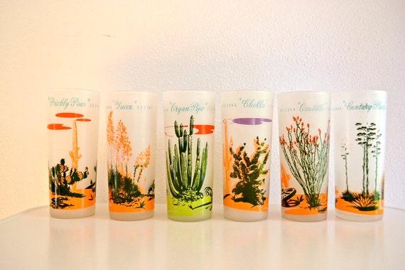Blakely Oil Arizona Cactus Glasses (Set of 6)