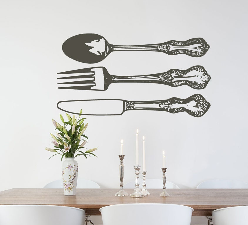 Farmhouse Kitchen Wall Decor Silverware Wall By Householdwords