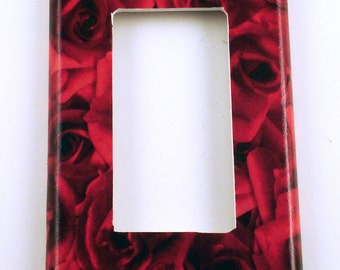 Light Switch Cover  Wall Decor Switch Plate Rocker   Switchplate   in   Roses are Red (253R)