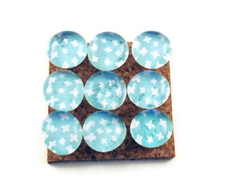 Thumb Tacks Decorative Push Pins   Cork Board Pins in Blue Sky (P47)