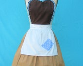 apron CINDERELLA  Work APRON  Princess style  womens full Apron Cinderella costume