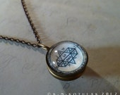 The Fifth Pentacle of Jupiter -- A Talisman for Visions -- Brass Pendant