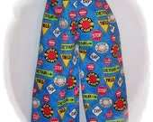 Size 4T Boys Street Signs Blue Pants
