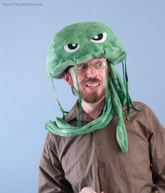 Fleece Jellyfish Hat - Green Tie Dye