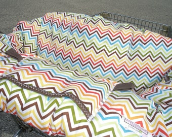 Shopping Cart cover  for boy or girl.....CHEVRON in Bermuda