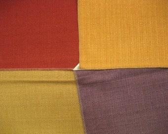 Fabulous Solid Woven Burlap Like Lot Designer Fabric Samples 4 Pieces