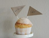 Wedding Cupcake Pennants - Set of 12
