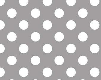 Riley Blake Designs, Medium Dots in Gray (C360 40)