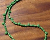 Bright Green Beaded Necklace