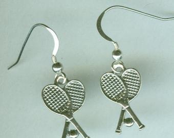 Sterling Silver TENNIG RACKETS Earrings - Sports