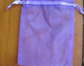 10 Organza Bags  4 x 6 inch/  Purple /Weddings, gifts, sachets & crafts MORE COLORS!
