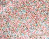 Apple Blossom(White)-Japanese cotton fabric(0.5 yard)