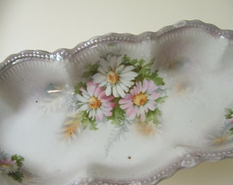 Antique Porcelain Celery Dish Leuchtenburg Germany