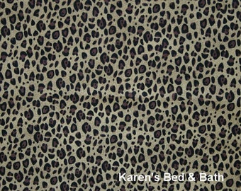 Cheetah Leopard Cat Safari Wildlife Animal Skin Curtain Valance