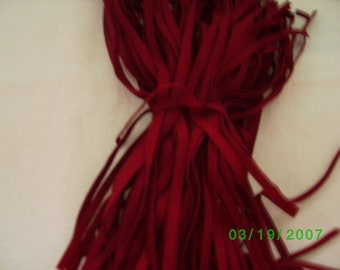88 Mill Dyed Wool Rug Hooking Strips  Cranberry