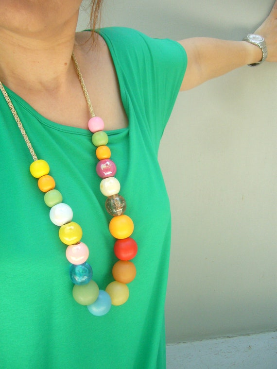 All colours and braided cord necklace