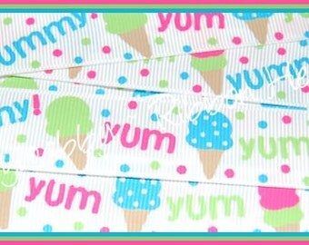 7/8 M2MG Ice Cream Sweetie Grosgrain Ribbon 5 Yards - TWRH