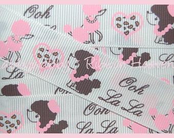 "7/8"" M2MG Perisian Chic Print Grosgrain Ribbon 5 Yards - TWRH"