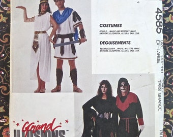 Mens/ Womens Costume Pattern  - Marc Anthony and Cleopatra, Allura, and Skulltar - McCalls 4585