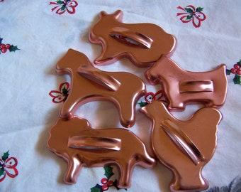 five fun copper cookie cutters