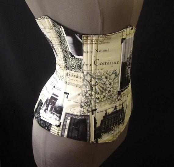 "Half-Price 3 Day Sale thru Sept 20th - APRIL in PARIS Under-Bust Corset - 26-28"" Waist Corset - Ready to Mail - by LoriAnn Costume Designs"