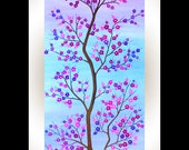 "Painting Oil landscape Painting wall decor wall art cherry blossom ""Symbol Of Hope"" By qiqigallery"