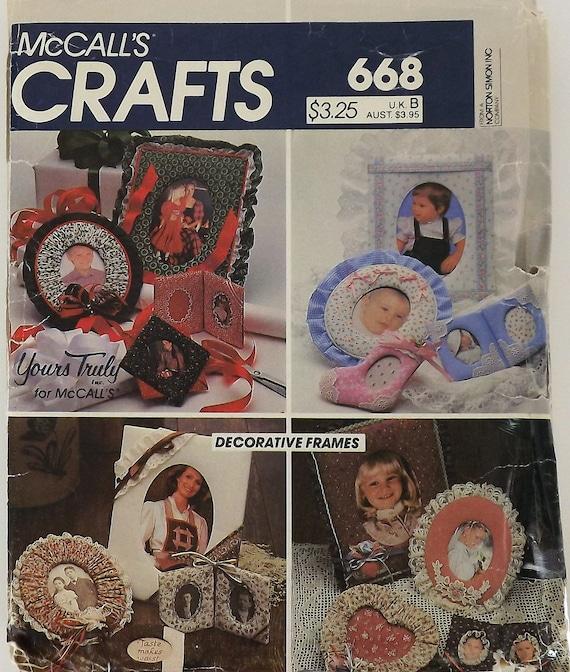 Vintage 80's Craft Sewing Pattern, Decorative Frames
