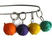 Yarn Ball Stitch Markers/Charms