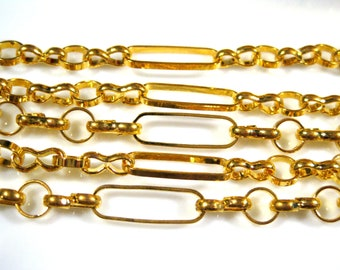 On Sale Chain by the foot Mother and Son Gold plated brass No 2