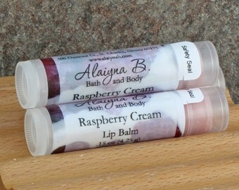 Raspberry Cream Flavored Lip Balm with Cocoa Butter
