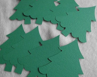 """Christmas Tree 4"""" Die Cuts...8 Piece Set of Very Lovely Christmas Tree Die Cut Scrapbooking Embellishments"""