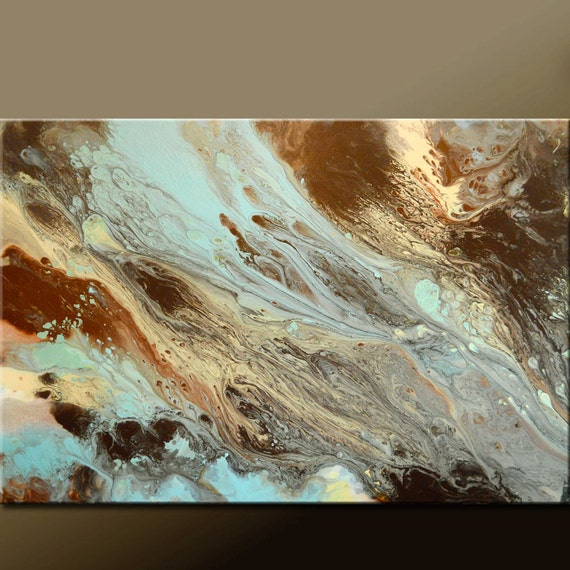 Original Abstract Art Painting 36x24 Contemporary Canvas Wall Art by Destiny Womack - dWo - Serenity