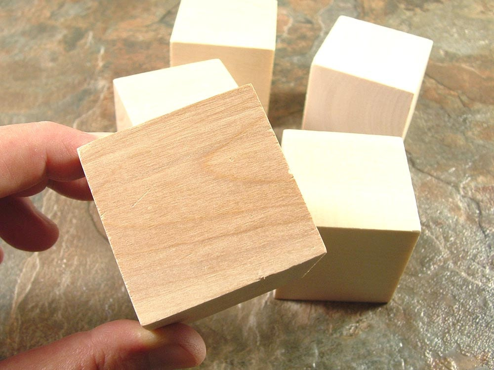 5 wood blocks square 2 inch unfinished wooden blocks for. Black Bedroom Furniture Sets. Home Design Ideas