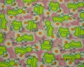 Frogs (Hip Critters) Cotton Flannel BTY
