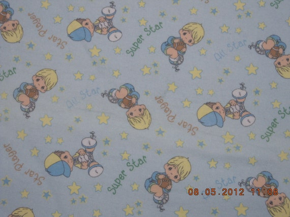 Precious Moments 2005  Cotton Flannel  6 yd piece.