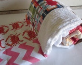 Patchwork chenille baby blanket - CRAB SHACK GIRL
