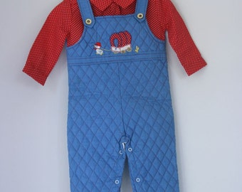 Vintage NOS Tiny Tots Originals quilted romper