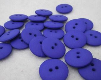 Plain Bright Purple Buttons 20mm 24 pieces