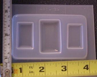 Rectangular shape matched cabochon set resin jewelry mold 387