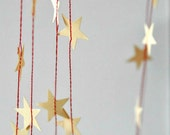Tiny VALENTINE Vanilla Manila Stars Stitched Paper Garland - as seen Front Page Etsy