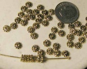Goldtone Pewter Spacers - 50 pcs. - 5mm - SPC809