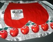 Kitchy Vintage Apple Apron