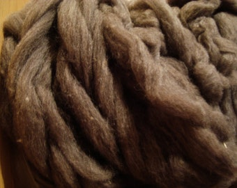 Merino Wool Alpaca Roving Top Fiber Soft Brown Wool Alpaca Spinning Fiber Top 4 ounces