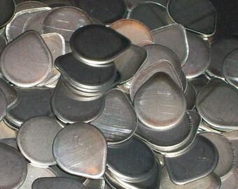 Nickel Silver Tear Drops - 20 Gauge - Qty 5