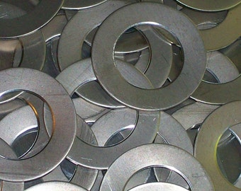 Nickel Silver Washers - 22 gauge, stamping blanks, metal blanks