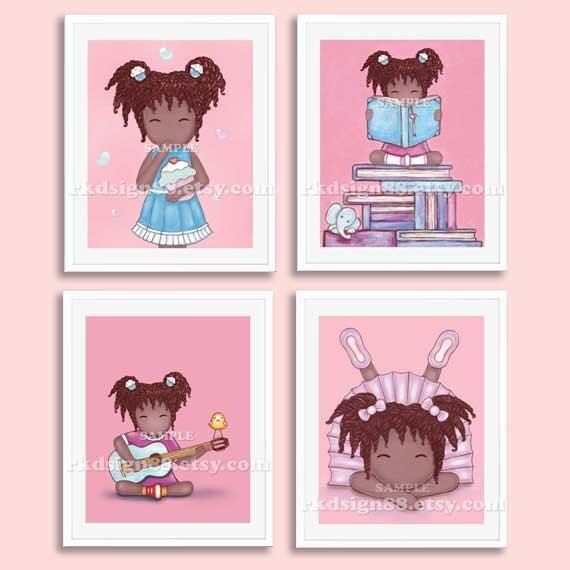 Nursery Art For Children Kids Wall Art Baby Girl Nursery Baby: Childrens Wall Art Nursery Art African Art Baby Girl