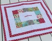 Patchwork Christmas Mug Rug/Mini Quilt